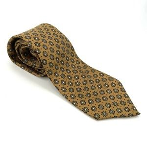 FENDI 100% Silk Floral Neck Tie With FLAWS